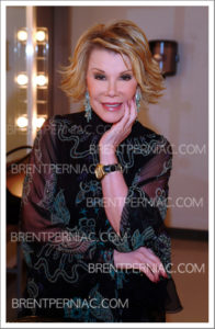 "23 June 2016 - New York, NY, USA - Joan Rivers.  The Private Collection of Joan Rivers featuring the star's favorite items were auctioned in both online and live sales at Christie's New York.  File Photo: 17 September 2004 - Toronto, Ontario, Canada.  Joan Rivers backstage at ""Brian Linehan Remembered"" held at Winter Garden Theatre. Photo Credit: Brent Perniac/AdMedia"