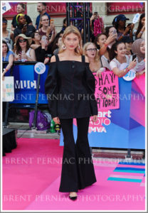 18 June 2017 - Toronto, Ontario, Canada.  Martha Hunt arrives on the pink carpet at the 2017 iHeartRadio MuchMusic Video Awards at MuchMusic HQ. Photo Credit: Brent Perniac/AdMedia