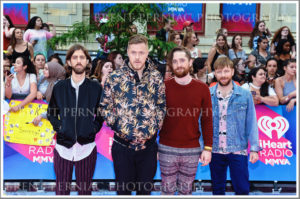 18 June 2017 - Toronto, Ontario, Canada.  Wayne Sermon, Dan Reynolds, Ben McKee and Daniel Platzman of Imagine Dragons arrive on the pink carpet at the 2017 iHeartRadio MuchMusic Video Awards at MuchMusic HQ. Photo Credit: Brent Perniac/AdMedia